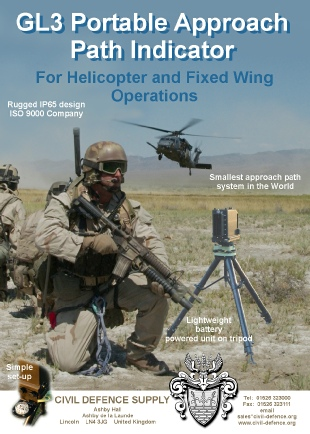 Intended for military and civil applications the GL3 is a rugged and dependable Approach Path Indicator